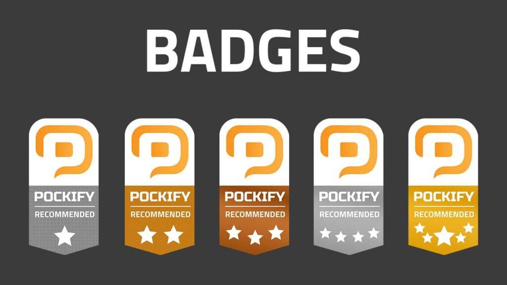 pockify badges