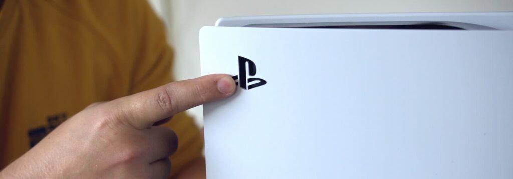 Playstation 5 Logo op het paneel
