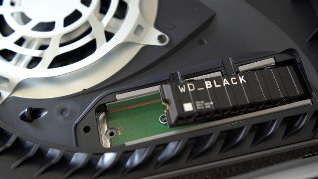 SSD bevestigd in PS5